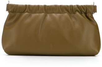 ATTICO Gathered Clasp Leather Clutch