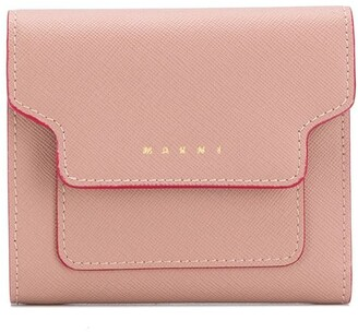 Marni Contrast-Trimmed Leather Wallet