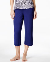 Alfani Satin-Waist Trim Cropped Pajama Pants, Only at Macy's