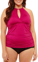 Liz Claiborne Tankini Swimsuit Top-Plus