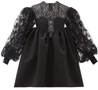 Christopher Kane Cupcake Lace And Duchess Satin Dress - Womens - Black