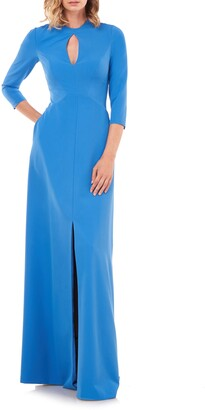 Kay Unger Hannah Stretch Crepe A-Line Gown