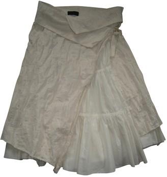 Ikks Beige Cotton Skirt for Women