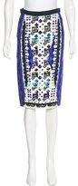 Peter Pilotto Printed Pencil Skirt w/ Tags