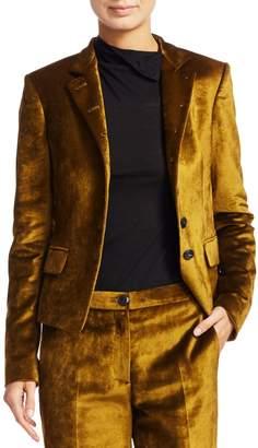 Rag & Bone Rei Velvet Notch Collar Tailored Blazer