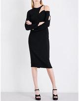 Antonio Berardi Cutout stretch-crepe midi dress