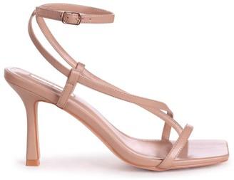 Linzi CARNABY - Mocha Nappa Strappy Square Toe Heel With Toe Post