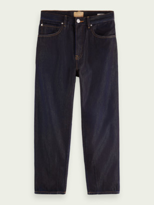 Scotch & Soda Super-wide tapered-fit cotton-lyocell jeans Pyrite | Men