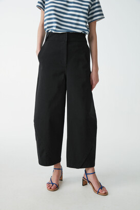 Cos Cotton Trousers With Wrapped Seams