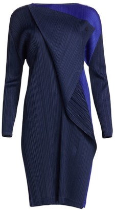 Pleats Please Issey Miyake Hidden Colors Long Sleeve Dress