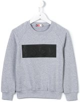 MSGM logo panel sweatshirt