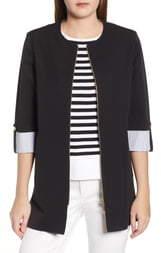 Ming Wang Roll Sleeve Jacket