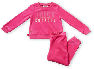 Juicy Couture Toddler Girls) Two-Piece Rhinestone Velour Sweatshirt & Jogger Sweatpants Set
