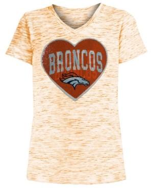 5th & Ocean Big Girls Denver Broncos Heart Flip Sequin T-Shirt