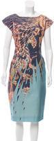 Matthew Williamson Graphic Print Sheath Dress w/ Tags
