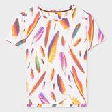 Paul Smith Women's White 'Feather' Print Cotton T-Shirt