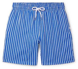Derek Rose Bondi 1 Slim-Fit Mid-Length Striped Swim Shorts