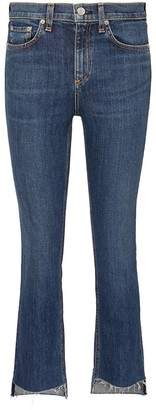 Rag & Bone '10 Inch Stovepipe' staggered cuff jeans