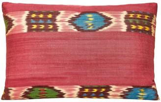 Heritage Geneve Cornflower Silk Ikat Stripe Double Sided Artisan Heritage Style Cushion
