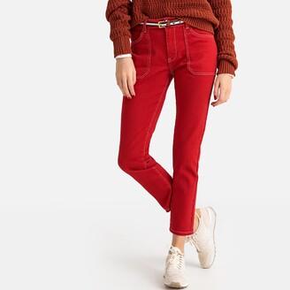"La Redoute Collections Plain Regular Straight Leg Jeans, Length 27.5"""