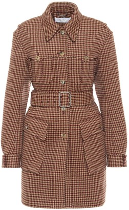 Chloé Checked belted wool coat