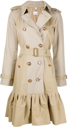 Burberry Gathered Detail Trench Coat