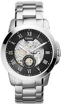 Fossil Men's ME3055 Grant Three-Hand Automatic Stainless Steel Watch - Silver-Tone