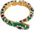 Trina Turk Green Snake Bracelet