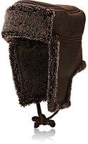 Barneys New York Women's Shearling Trapper Hat-BROWN