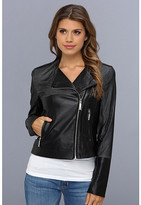 Vince Camuto Perforated Faux Leather Moto Jacket F8191