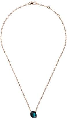 Pomellato 18kt rose & white gold Nudo blue topaz pendant necklace