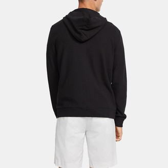 Theory Zip Up Hoodie in Waffle Knit Cotton