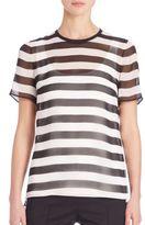 Akris Punto Striped Silk Top