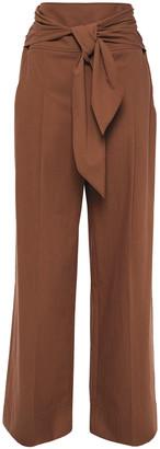 Brunello Cucinelli Belted Cotton Wide-leg Pants