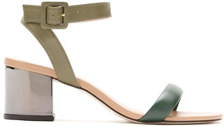 Egrey Leather Block-Heeled Sandals