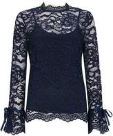 Wallis Navy Lace Blouse