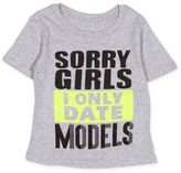 """Freeze I Only Date Models"""" Shirt in Grey"""