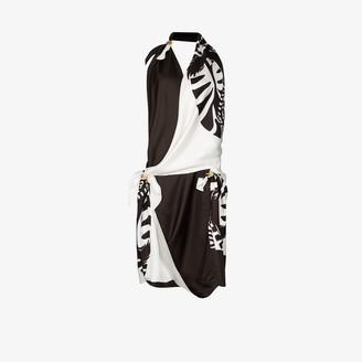 Bottega Veneta Zebra print scarf dress
