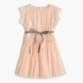 J.Crew Girls' ruffle-sleeve dress in silk chiffon