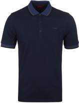 Hugo Drese Navy Twin Tipped Short Sleeve Polo Shirt