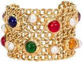 One Kings Lane Vintage Chanel Gripoix Cuff Bracelet - Vintage Lux - gold, pearl, multicolor