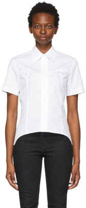 Helmut Lang White Contour Short Sleeve Shirt