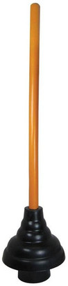 "Pf Waterworks Heavy Duty 6"" Force Cup Toilet Plunger With 21"" Wooden Handle"