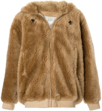Yves Salomon Fantasy Fur Hooded Jacket