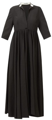 Jil Sander Niaz Stand-collar Midi Dress - Black