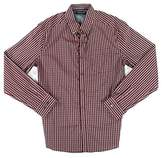 Kenneth Cole New York Men's Long Sleeve Button Down Collar 1 Pocket Gingham