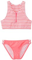 Seafolly Girls' Tropical Splice High Neck Tankini Two Piece Set (6yrs16yrs) - 8137079