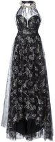 Marchesa embroidered flower dress - women - Nylon - 0