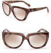 Valentino V Logo Oversized Sunglasses