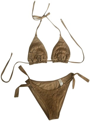 BEIGE Non Signe / Unsigned Cotton Swimwear for Women